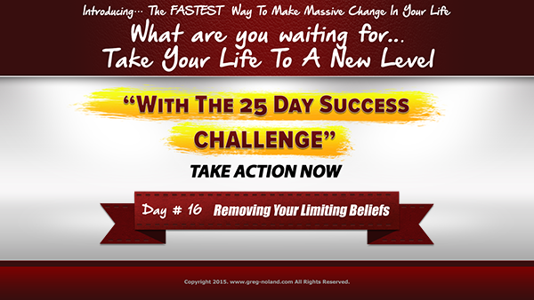 Day 16: Removing Your Limiting Beliefs