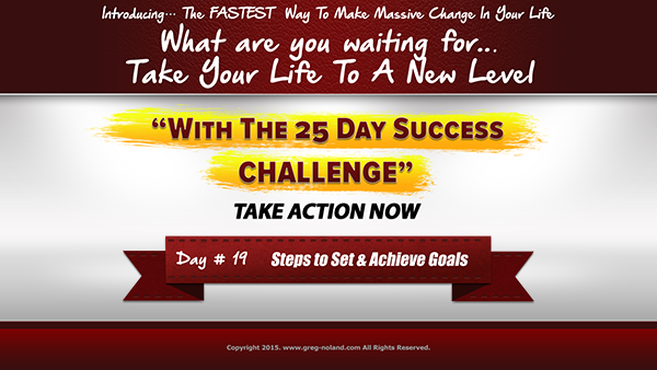 Day 19: Steps to Set and Achieve Goals